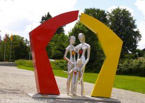Porta familiae, 2007, Metallbildplastik, Rüti ZH