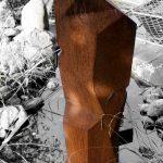 Waterpillar, drehbare Eisenplastik als Teil eines Wasserspiels, Patrick Thür