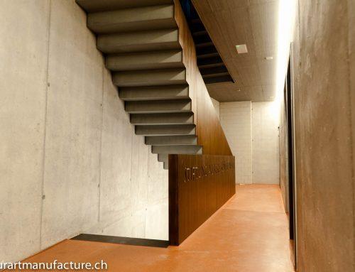 Treppengeländer Geschäftshaus Löwen Amden