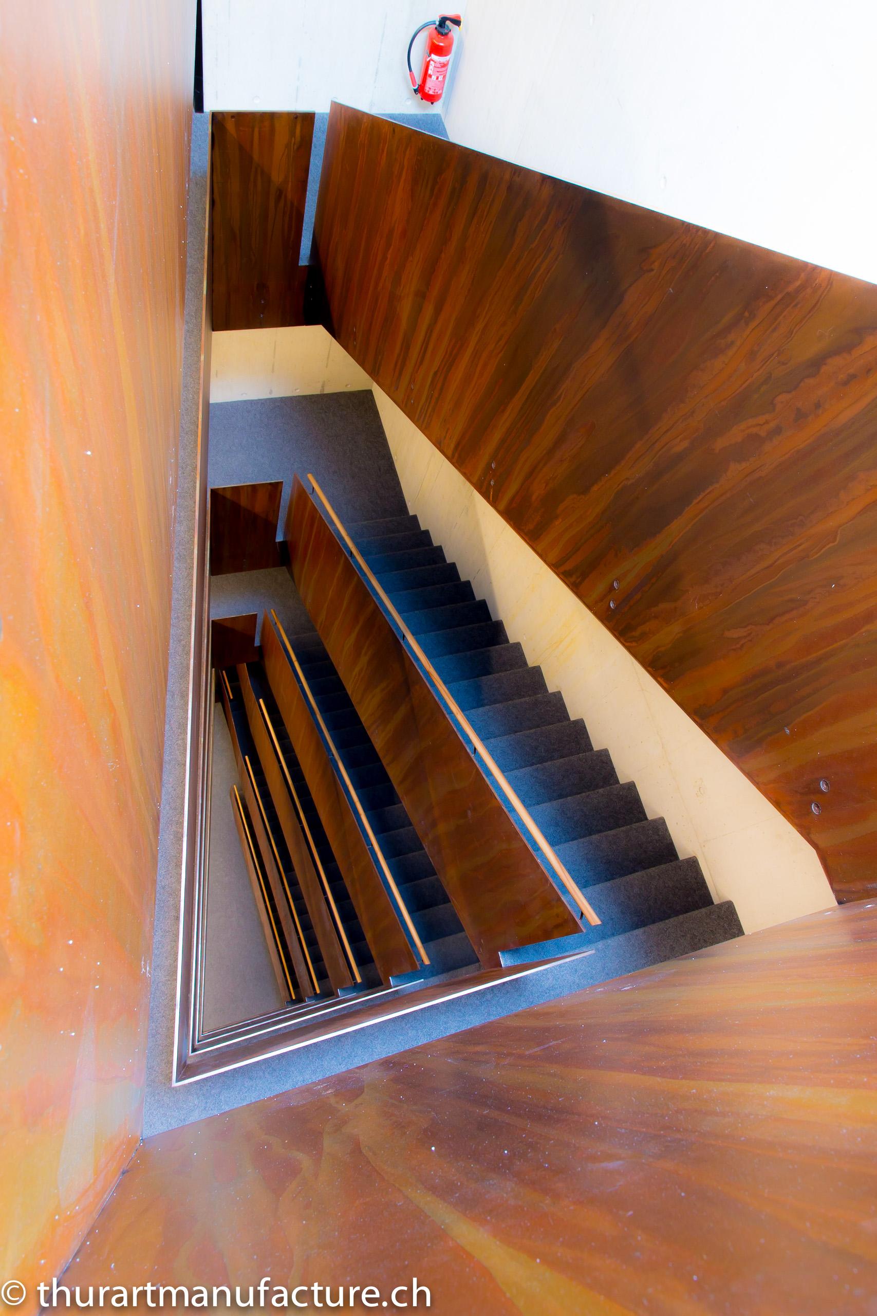 Treppengeländer im Merkurhof Rapperswil-Jona, 750 m2