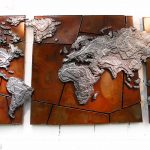 Weltenbilder II, Metallbildplastik, Patrick Thür