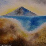 Sajama mit Lago Chungara, Christoph Thür
