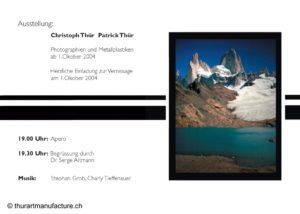 Einladungskarte Ausstellung Klinik St. Raphael Küsnacht ZH