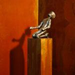 why, Metallskulptur, Patrick Thür