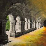 Abay de Fontenay, Oelbild auf Fotoleinwand , Christoph Thür