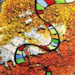 DNA und Flechten, Oelmalerei auf Fotoleinwand.  , Christoph Thür