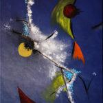 Flüchtige Träume, Oelmalerei auf Fotoleinwand.  , Christoph Thür