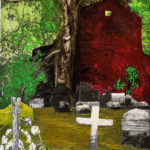 Friedhof in Brasilien, Oelmalerei auf Fotoleinwand.  , Christoph Thür