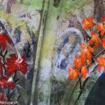 Hochblüte des Mittelalters und Blüten , Oelmalerei auf Fotoleinwand.  , Christoph Thür
