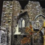Klosterruinen in Clonemacnoise Irland, Oelmalerei auf Fotoleinwand.  , Christoph Thür