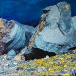 Lava vom Parinacota, Oelbild auf Fotoleinwand , Christoph Thür