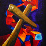 Macht und Ohnmacht des Kreuzes, Oelbild auf Leinwand, Christoph Thür