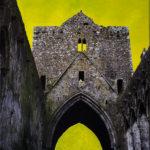 Rock of Cashel Irland, Oelmalerei auf Fotoleinwand.  , Christoph Thür
